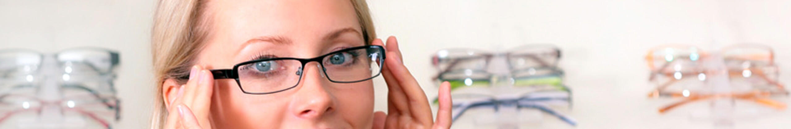 Eye glasses reading letters